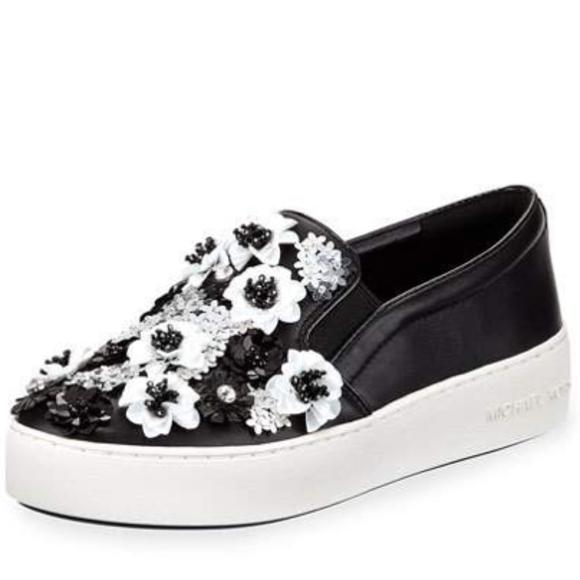 2656e1185487 MK Trent Floral Sequined Slip- on Sneaker Women